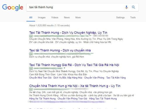 Taxi tải Thành Hưng cảnh báo dịch vụ mạo danh