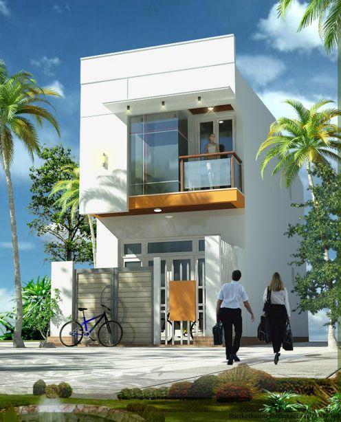 xây nhà, mẫu nhà ống đẹp, thiết kế nhà 2 tầng