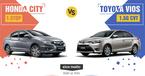 Honda City 2017 so găng Toyota Vios ở Việt Nam