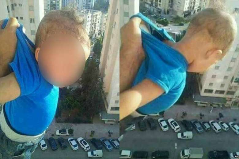 Bản án cho kẻ treo trẻ con ngoài cửa sổ cao ốc để 'câu like'