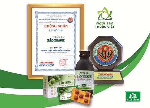 Bảo Thanh -Top 20 thương hiệu phát triển bền vững quốc gia