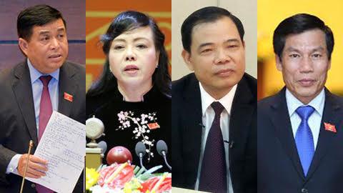 chất vấn, Bộ trưởng Y tế, Bộ trưởng NN&PTNT, Bộ trưởng KH-ĐT, Bộ trưởng VH-TT-DL