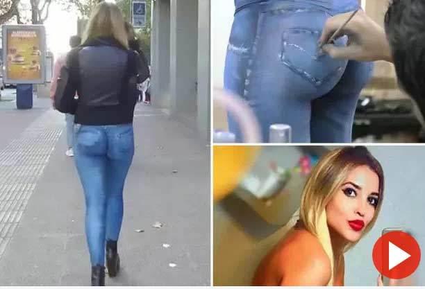 Người mẫu thản nhiên không mặc quần ra phố