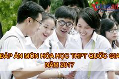 Lời giải tham khảo môn Hóa học mã đề 212 THPT quốc gia năm 2017