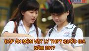 Lời giải tham khảo môn Vật lý mã đề 203 THPT quốc gia năm 2017
