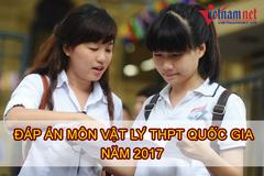 Lời giải tham khảo môn Vật lý mã đề 207 kỳ thi THPT quốc gia năm 2017