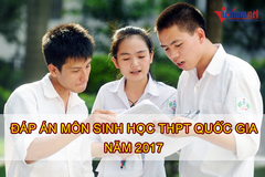 Lời giải tham khảo môn Sinh học mã đề 201 tốt nghiệp THPT quốc gia năm 2017