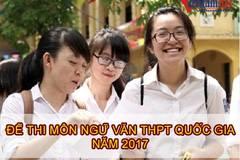 Đề thi môn văn kỳ THPT quốc gia năm 2017