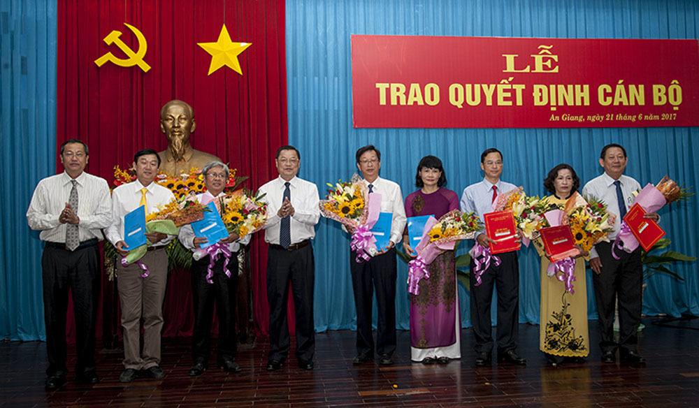 Bổ nhiệm nhân sự, An Giang, TP. HCM, Tây Ninh