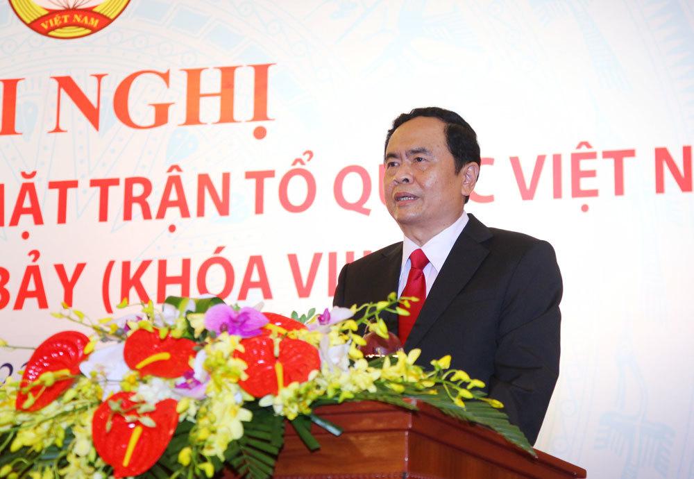 Tân Chủ tịch UB TƯ MTTQ Việt Nam Trần Thạnh Mẫn. Ảnh: Thành Trung