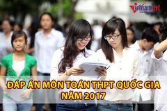 Lời giải tham khảo môn Toán kỳ thi THPT quốc gia năm 2017