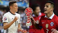 Link xem trực tiếp Đức vs Chile, 01h ngày 23/6