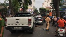 Hà Nội: Ford Ranger gây tai nạn liên hoàn, nhiều người trọng thương