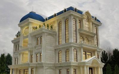 Gợi ý 10 mẫu biệt thự phong cách bán cổ điển đẹp mê mẩn
