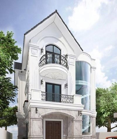 nhà đẹp, thiết kế nhà, thiết kế biệt thự, biệt thự bán cổ điển