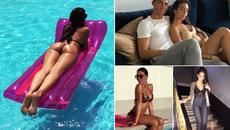 """Bồ Ronaldo tung ảnh cực """"nóng"""" dấn thân giới siêu mẫu"""