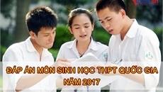 Đáp án chính thức môn Sinh học thi THPT quốc gia 2017