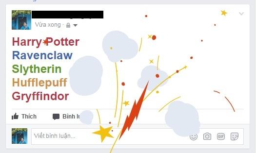 Facebook, Mạng xã hội, Tính năng mới, Bắn pháo hoa, Harry Potter