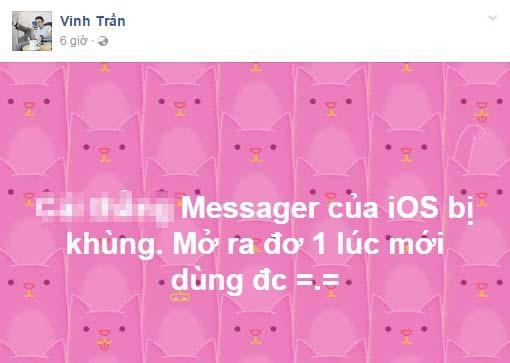 Facebook Messenger trên iPhone bị lỗi, chậm tại Việt Nam