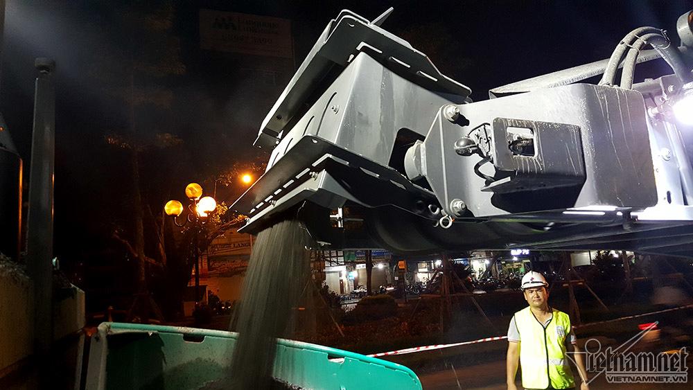 Xem dàn máy 80 tỷ hiện đại nhất VN làm đường Hà Nội