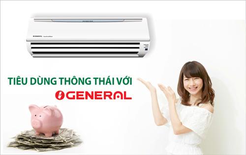 Sắm máy lạnh Nhật Bản General, miễn phí công lắp đặt
