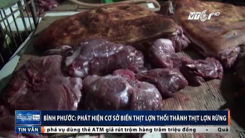 Lật tẩy cơ sở 'phù phép' thịt lợn thối thành thịt lợn rừng
