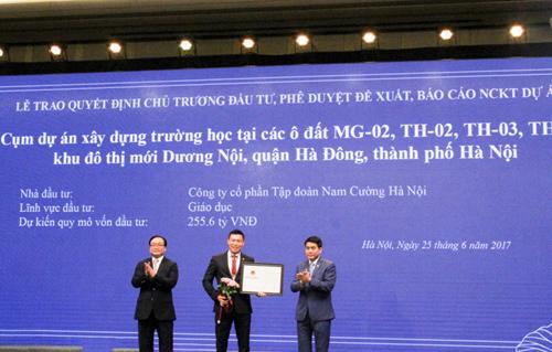 Nam Cường sẽ xây 4 trường học mới cho Hà Nội