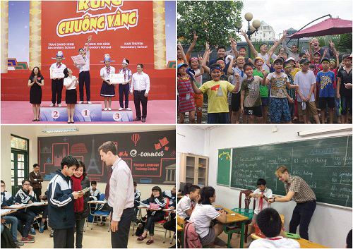 E-connect: Học tốt tiếng Anh với người nước ngoài trong trường học