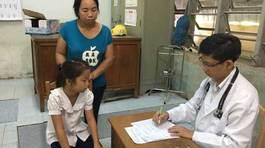 Bé Nguyễn Ngọc Hà đã được nhập viện