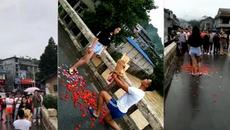 Video chàng trai nhảy xuống sông sau khi cầu hôn lan truyền chóng mặt