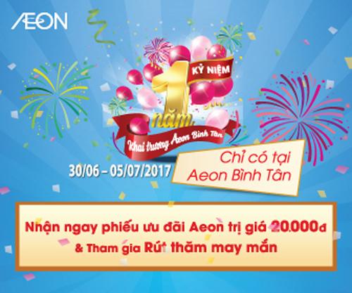 AEON Bình Tân khuyến mãi lớn mừng sinh nhật 1 tuổi