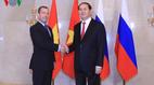 Chủ tịch nước hội kiến Thủ tướng Nga Medvedev