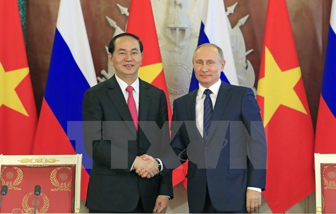 Việt-Nga ra tuyên bố chung về chuyến thăm của Chủ tịch nước
