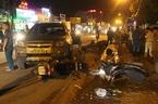 Tài xế lái Chevrolet mang sắc phục cảnh sát gây tai nạn liên hoàn