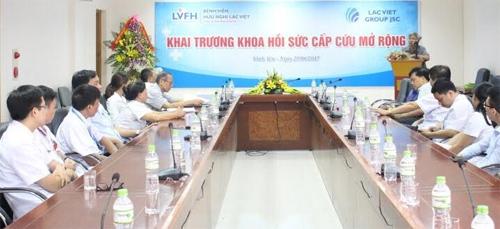 BV Hữu nghị Lạc Việt khai trương khoa cấp cứu mở rộng