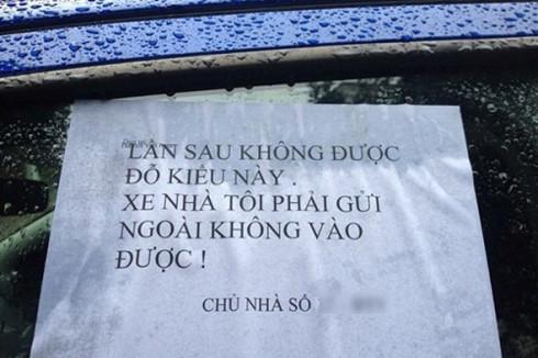 Xịt sơn, khóa bánh, đập kính xe: Chuyện không nhỏ ở Hà Nội