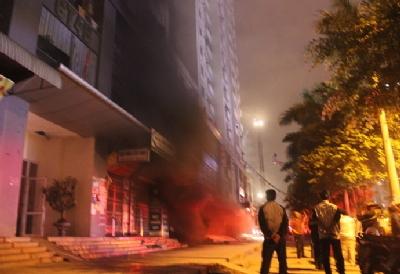 phòng cháy chữa cháy, cháy chung cư, chung cư đại gia điếu cày