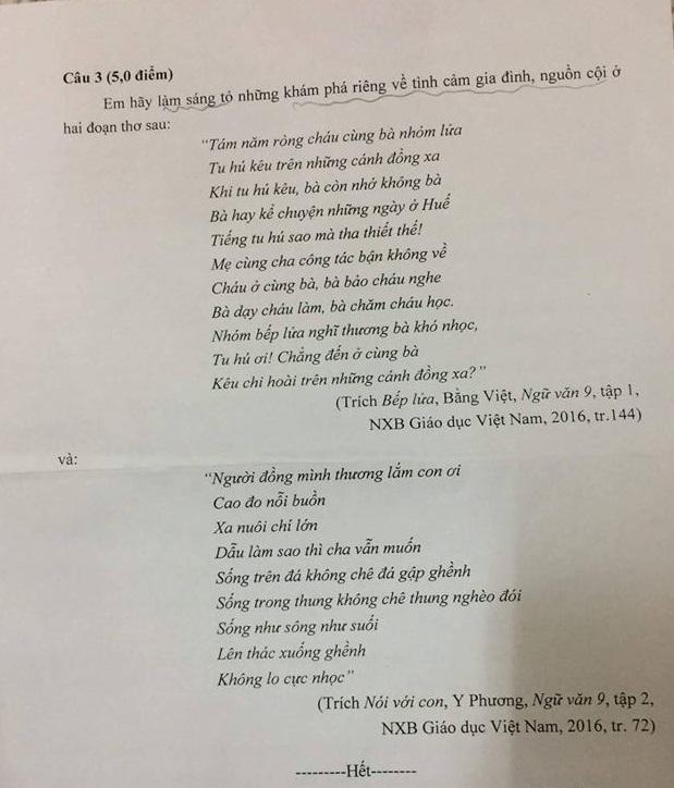 Đề văn thi vào lớp 10 Trường THPT Chuyên Trần Phú