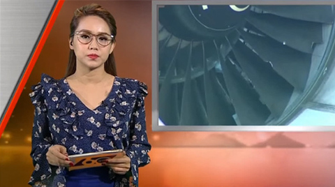 MC Trúc Mai dẫn bản tin 60s của HTV