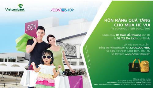 Quà tặng cho chủ thẻ Vietcombank tại AEON