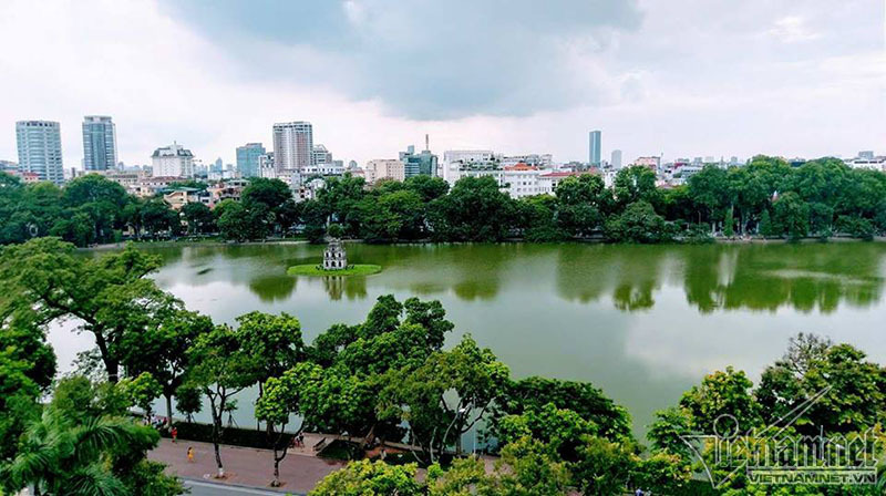 cây xanh, chặt cây, Hồ Gươm, Hà Nội