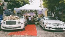 Màn rước dâu bằng xe siêu sang Bentley của hot girl Hải Phòng