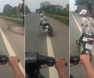 Thanh niên lạng lách đánh võng, 'thách thức tử thần' ở Bắc Giang