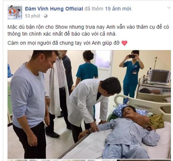 Đàm Vĩnh Hưng tặng 30 triệu cho bà cụ 72 tuổi mang khối u bướu lớn