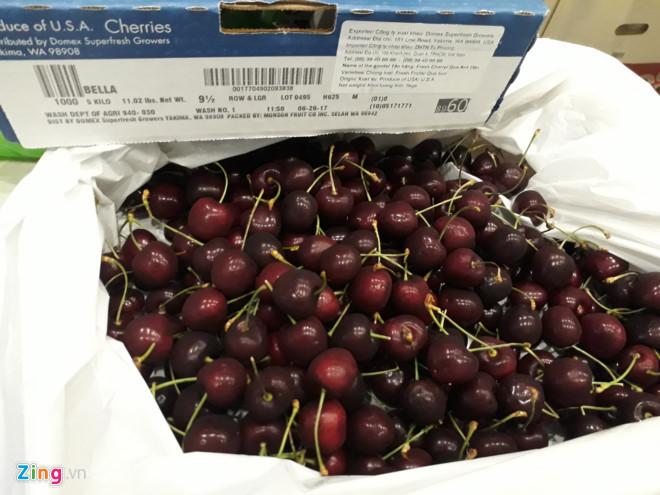 Cherry Trung Quốc giá 120.000 đồng/kg tràn ngập chợ mạng
