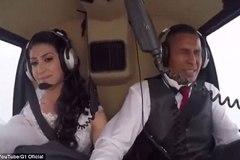 Giây phút cô dâu tử nạn khi đi trực thăng tới đám cưới