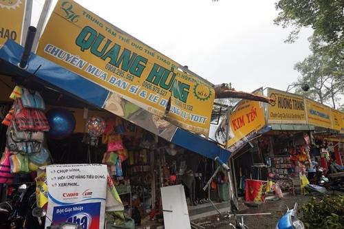 Nhánh cây rỗng ruột đè sập 2 cửa hàng thời trang ở Sài Gòn