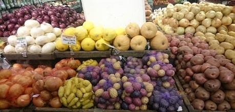 khoai tây, siêu thị, thực phẩm bẩn