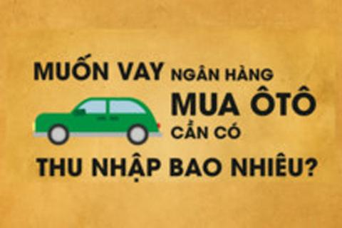 Muốn vay mua ôtô trả góp phải có thu nhập bao nhiêu?