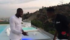 Pogba nhảy nhót chúc mừng Lukaku đến MU